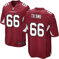 Limited Alameda Taamu Youth Jersey - Arizona Cardinals 66 Home Red Nike NFL