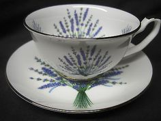 LAVENDER-CUP-SAUCER-Adderley-Ceramics-FINE-BONE-CHINA-made-ENGLAND