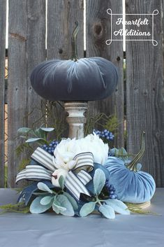 Your place to buy and sell all things handmade Pumpkin Arrangements, Pumpkin Centerpieces, Flower Arrangements, Pumpkin Crafts, Fall Crafts, Pumpkin Decorating, Fall Decorating, Fall Deco Mesh, Velvet Pumpkins