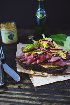 Corned Beef and Pastrami Sandwich with Apple and Green Cabbage Slaw – The Blonde Chef