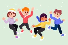 Caracter flat design Vectors, Photos and PSD files Character Flat Design, Winter Outfits, Winter Clothes, Vector Photo, Cute Illustration, Young People, Vector Free, How To Wear, Storyboard
