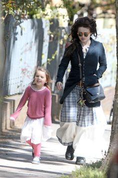 Helena Bonham Carter with daughter Nell 2012