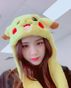 Find images and videos about blackpink and jisoo on We Heart It - the app to get lost in what you love. Blackpink Jisoo, Pikachu Hat, Cute Pikachu, Kpop Girl Groups, Korean Girl Groups, Kpop Girls, Divas, Black Pink ジス, Black And Brown
