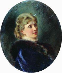 Маковский Константин .Портрет Худековой, 1885