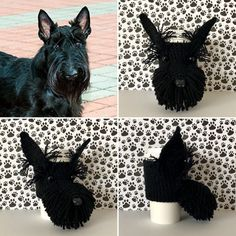 Crochet Pattern Scottie Dog Scottie Dog Pattern Cup Cozy Gifts For Dog Owners, Gifts For