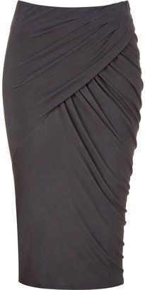 Shadow twisted drape skirt - Donna Karan Shadow twisted drape skirt