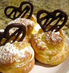 Valentine Profiteroles: Winner of the 2011 Food Frenzy Valentine's contest  Traditional cream puff with a Valentine's Day touch!