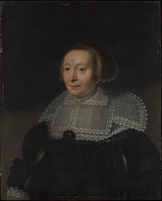 1632-35 - Mierevelt, Michiel van Portrait of a Woman with a Lace Collar - Oil on wood 29 3/8 x 23 3/4 in. (74.6 x 60.3 cm) - The Metropolitan Museum of Art