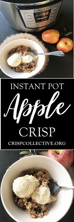Bringing you another super easy, quick apple dessert today!  I claimed the two easiest apple recipes EVER here, but this one probably should have made that list too! The Instant Pot is a game changer, especially for busy weeknights.  I've had people ask me what the hype is about….this little appliance does a TON!  I feel …