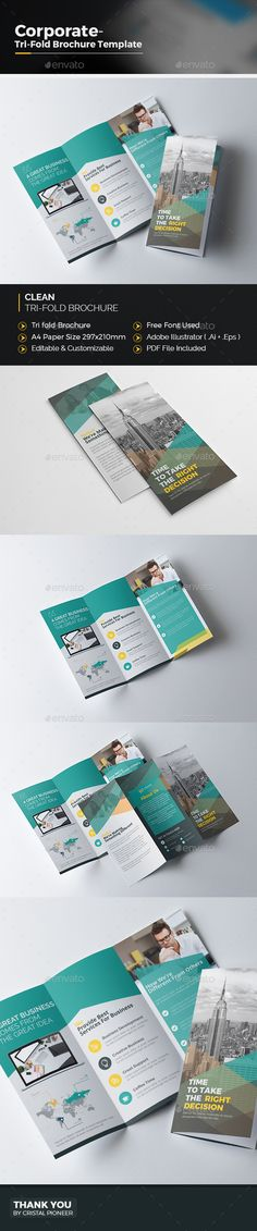 Corporate Tri fold Colourful Brochure Template Vector EPS, AI Illustrator. Download here: http://graphicriver.net/item/corporate-tri-fold-colourful-brochure/16649094?ref=ksioks