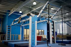 Custom functional fitness gym rack with monkey bars rope climb and more for functional fitness and ninja warrior training