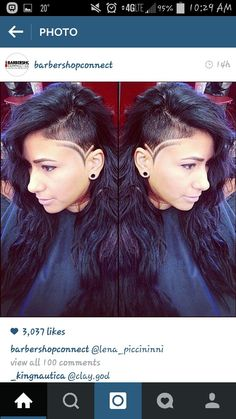 My next shaved side cut
