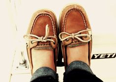 Sperry Topsiders. I have these, and they aren't that comfortable (I get blisters etc.)