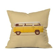 Getting cabin fever? Hit the road with the happy and bright Sunshine Camper Pillow. The versatile woven polyester cushion works anywhere in the home, with its pastel tones and iconic camper van print f...  Find the Sunshine Camper Pillow, as seen in the A Road Trip Up the California Coast Collection at http://dotandbo.com/collections/a-road-trip-up-the-california-coast?utm_source=pinterest&utm_medium=organic&db_sku=102696