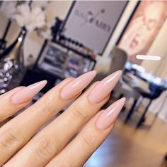 All What You Need To Know About the Dip Powder Nail Trend. – Care – Skin care , beauty ideas and skin care tips Long Almond Nails, Almond Acrylic Nails, Cute Acrylic Nails, Long Nails, Cute Nails, Pretty Nails, Almond Nails Pink, Hair And Nails, My Nails