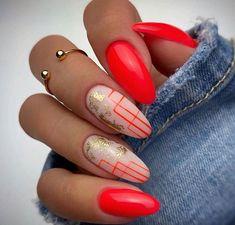 Nail Art Designs Videos, Cute Nail Art Designs, Nail Design, Neon Nails, Swag Nails, Stylish Nails, Trendy Nails, Fire Nails, Best Acrylic Nails