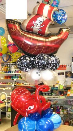 Balloons on the Run/Party Decorations R' Us - Balloon Centerpieces