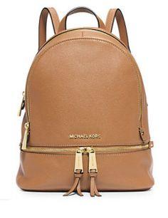 MICHAEL MICHAEL KORS Rhea Small Leather Backpack In Peanut