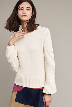 Lova Ribbed Sweater. Like the sleeves, the length, the cut.