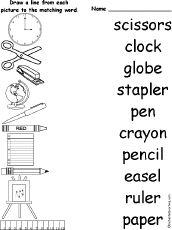Resultado de imagen de classroom vocabulary activities pdf