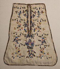 Crewel Embroidered Waist Pocket: Circa 1800