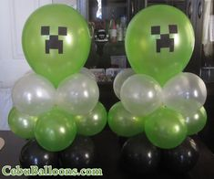 The remarkable Minecraft Minecraft Birthday Decorations, Minecraft Balloons, Minecraft Party Games, Minecraft Birthday Party, Birthday Party Games, Minecraft Crafts, 8th Birthday, Minecraft Party Supplies, Birthday Ideas