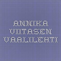 Annika Viitasen vaalilehti