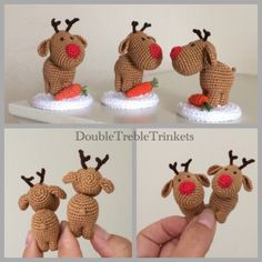Crocheted Reindeer - Christmas                                                                                                                                                                                 More