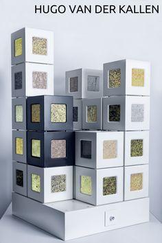 Een kubus met de technologie om de verborgen schoonheid van oeroude, natuurlijke materialen aan het…