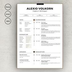 Resume-Cv-Elegance by sz81 on @creativemarket