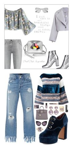 """casual outfits"" by gwyn3704 ❤ liked on Polyvore featuring Rebecca Minkoff, Zimmermann, 7 For All Mankind, Yves Saint Laurent, Prada, sunnydaays4everkh, See by Chloé, 3x1, Marc Jacobs and Hermès"