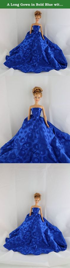 A Long Gown in Bold Blue with a Circle Patterned Fabric Made to Fit Barbie Doll. Barbie's full name is Barbara Millicent Roberts. In a series of novels published by Random House in the 1960s, her parents' names are given as George and Margaret Roberts from the fictional town of Willows, Wisconsin. Barbie has been said to attend Willows High School and Manhattan International High School in New York City, based on the real-life Stuyvesant High School. She has an on-off romantic…