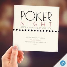 Poker Night, PRINT FROM HOME, Poker Night Invitation, Game Night Invitation, Art, Instant Download, Digital Card, Instant Print Active by EventureCards on Etsy https://www.etsy.com/listing/235209194/poker-night-print-from-home-poker-night