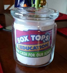 Turned my Gold Canyon Candle jar into a Box Tops jar. Could also be used as a change jar. Reuse Candle Jars, Gold Canyon Candles, Change Jar, Boy Box, Box Tops, Candels, Creative Ideas, Diy Ideas, Craft Ideas