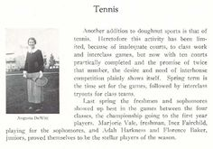 1923-24 UO women's tennis.  From the 1924 Oregana (University of Oregon yearbook).  www.CampusAttic.com