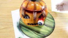 Kricky Cakes Decoration: Halloween Pumpkin cake tutorial (realistic fing...