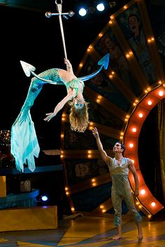 Ocean/Mermaid themed trapeze act