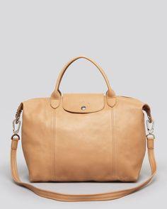 Longchamp Satchel - Le Pliage Cuir Medium