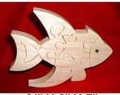 Fish - Childrens Wood Puzzle Game - New Toy- Hand Made - Child Safe