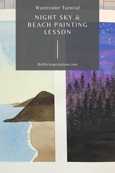 Learn how to paint these two beautiful landscape paintings using watercolor. #watercolor #watercolorpainting #watercolorvideo #watercolorblog Watercolor Video, Watercolour Tutorials, Watercolor Cards, Watercolor Landscape, Watercolor Paintings, Beautiful Landscape Paintings, Water Paper, Beach Landscape, Yellow Painting