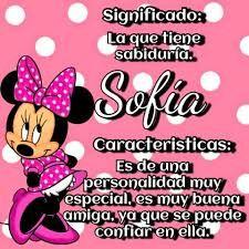 significado de nombre sofia - Buscar con Google Sophia Name, Pink October, Diana, Minnie Mouse, Names, Google, Search, Crafts, Sun