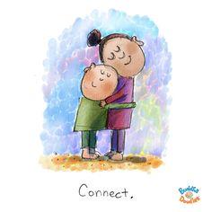 Today's Buddha Doodle: monday hugs