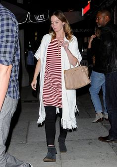 Pin for Later: Emily Blunt Goes Casual For a Sweet Date Night With John Krasinski