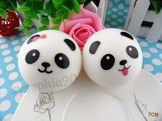7cm Squishy Panda Cellulare Pane Profumato Morbido Crocchia Cinghie Portachiavi