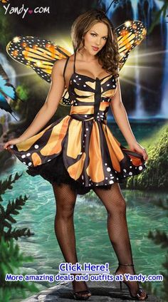 Monarch butterfly costume. I'm in love!!