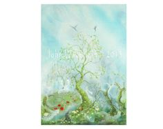 The Wishing Tree by ARTbyJOHNWAKEFIELD on Etsy, £14.00