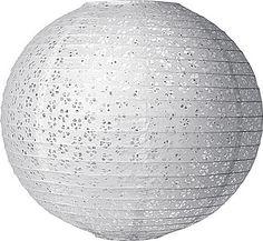 White 16 Inch Round Eyelet Paper Lanterns