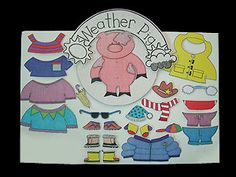 "all of the items from ""Poco and Pop"" store are wonderful!  This one is ""weather pig""....use with velcro."