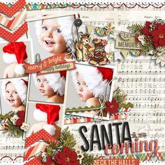 気軽にデジタルスクラップブッキング akizo Designs: Santa is coming