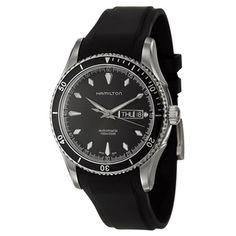 Hamilton Men's 'Jazzmaster' Black Swiss Automatic Watch | Overstock.com Shopping - Big Discounts on Hamilton Men's Hamilton Watches